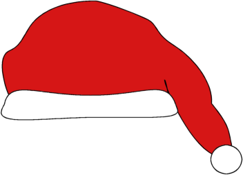 Santa hat no background