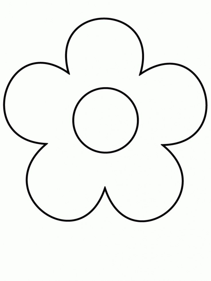 Line Drawing Pictures Of Flowers : Simple flower drawing easy clipart best