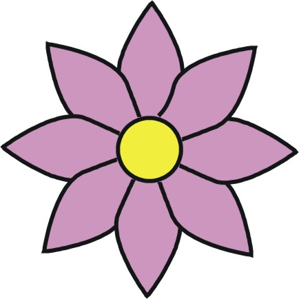 simple flower cartoon clipart best
