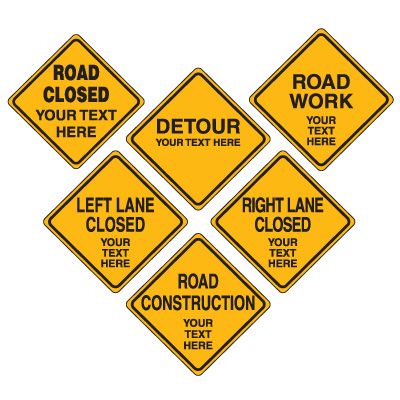 road work signs clipart best