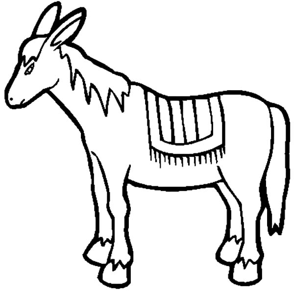 Donkey drawing clipart best for Donkey coloring pages free