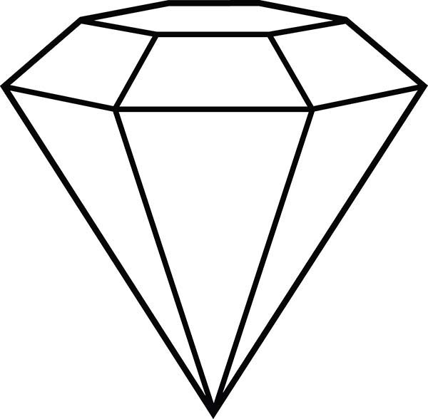 outline of a diamond shape clipart best