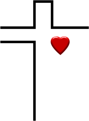 Heart With Cross Clip Art - ClipArt Best
