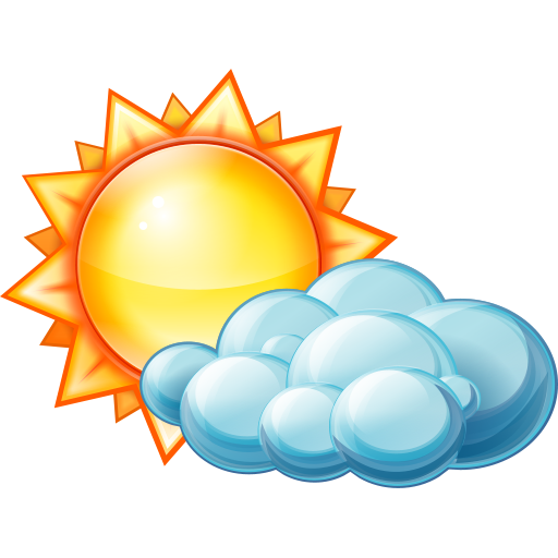 Clip Art Partly Sunny Partly Rainy Clipart