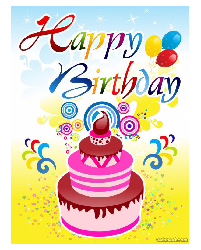 happy birthday card designs  clipart best