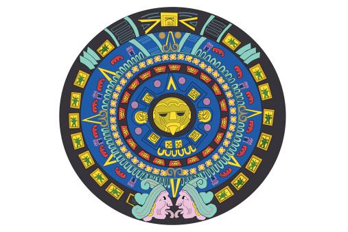 Mayan Calendar Vector Art : Vector aztec calendar clipart best