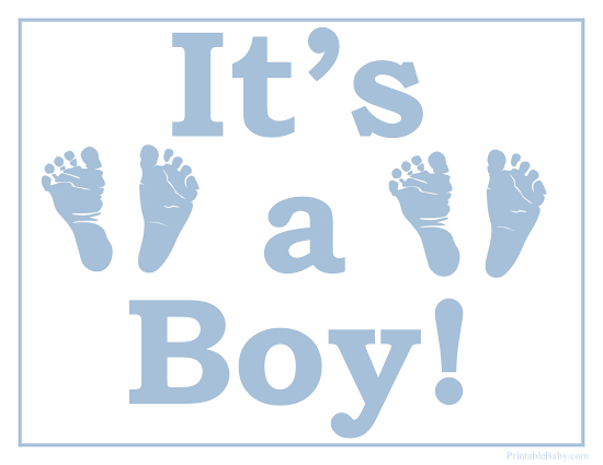 Printable It's a Boy Sign