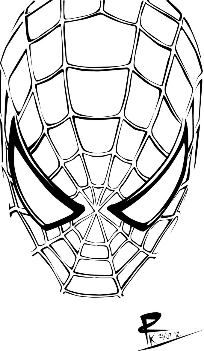 coloring pages spiderman mask clip - photo#11