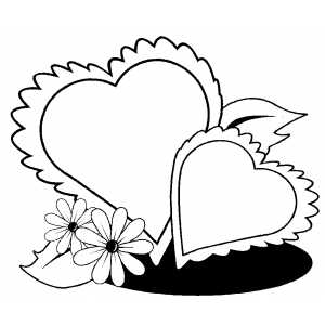 Coloring Pages With Flowers And Hearts : Photos Of Hearts And Flowers ClipArt Best