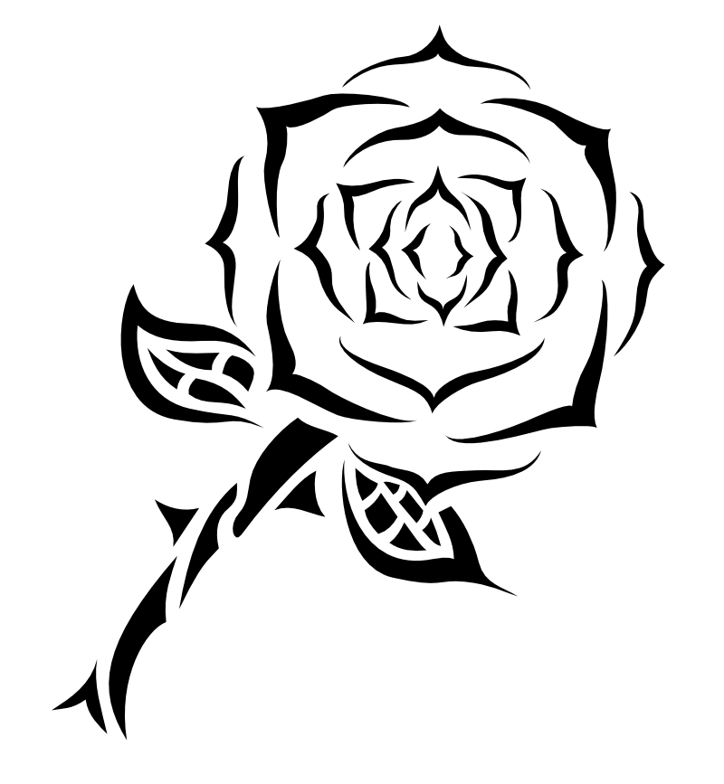 Tribal Rose ClipArt Best