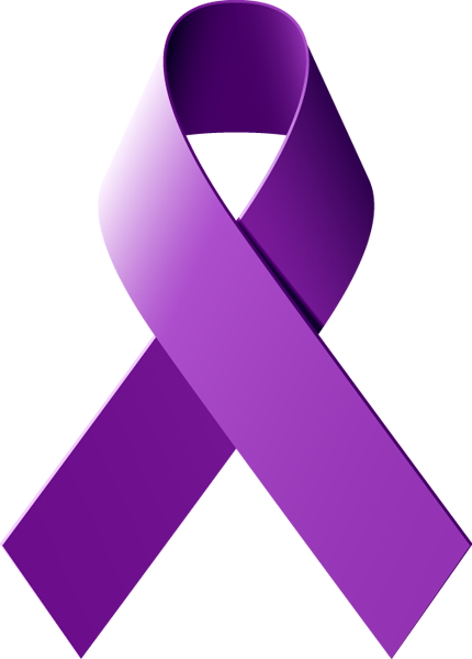 Purple Cancer Ribbon - ClipArt Best