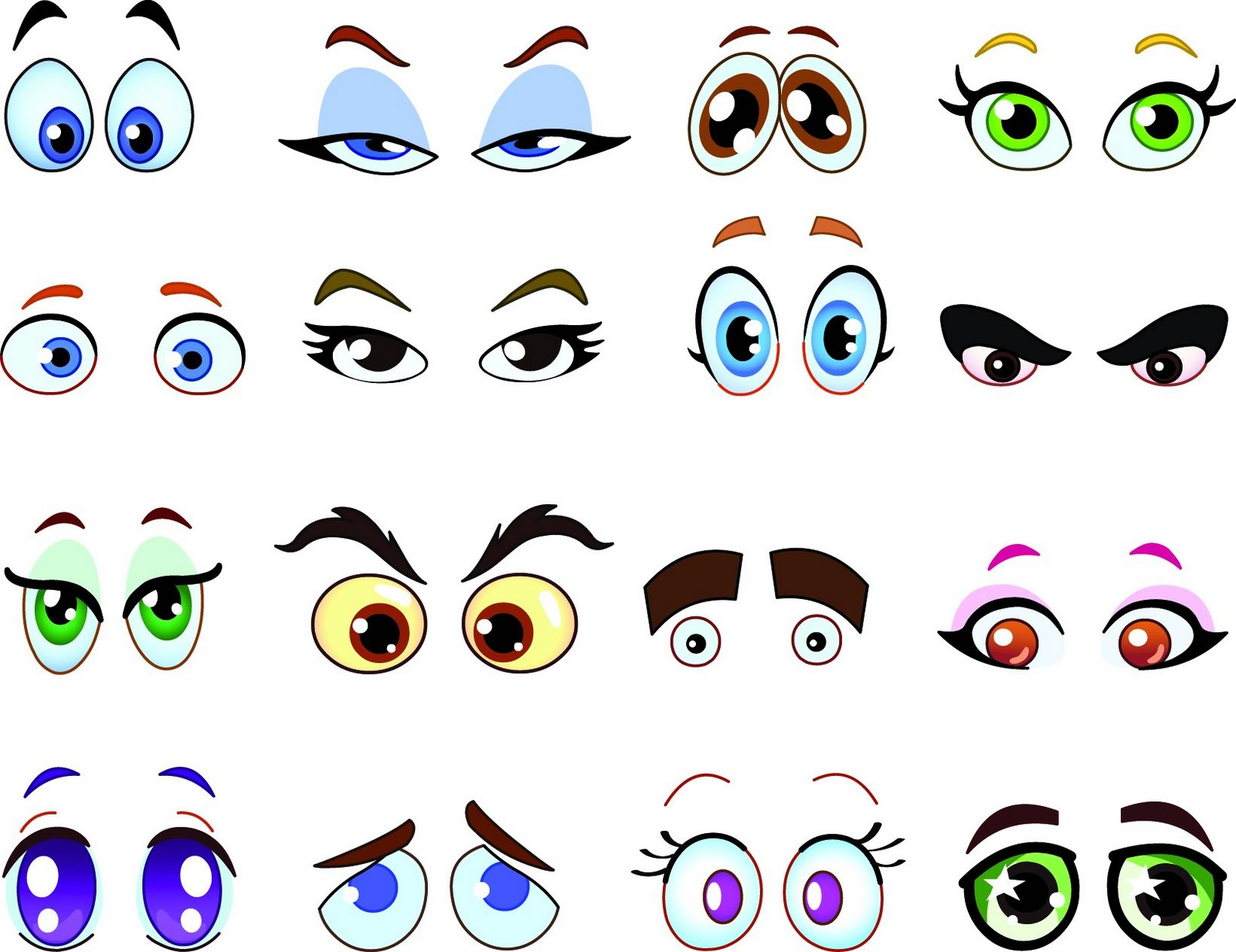 Cartoon Characters Eyes : Happy delicious stuff clip art cartoon eyes clipart