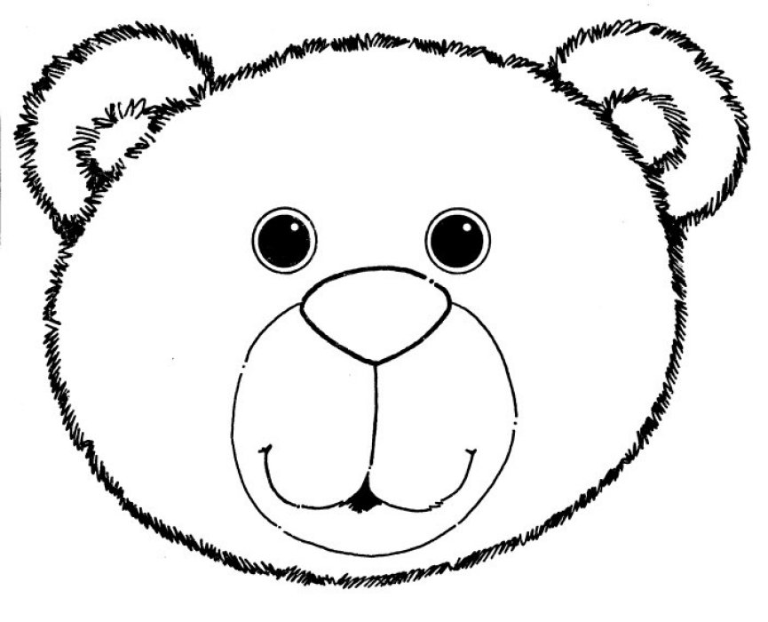 Bear Head Template - ClipArt Best