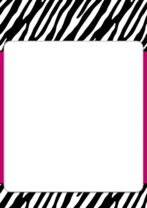 Zebra Print Border Template Border Templates · Zebra