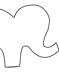 Elephant template clipart best for Stuffed animal templates free