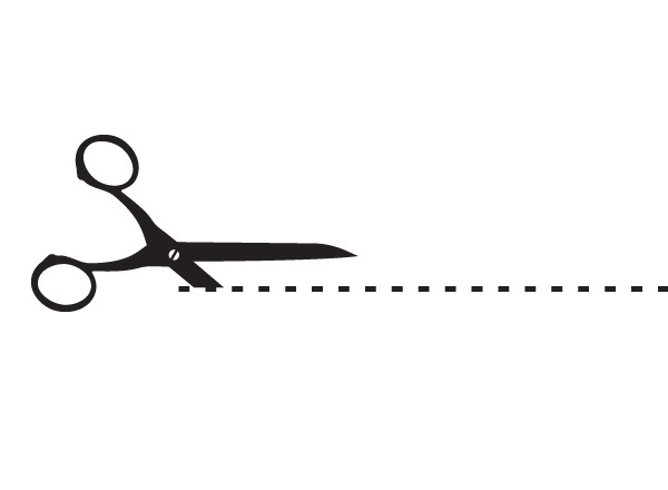 clip art dotted line with scissors - photo #1