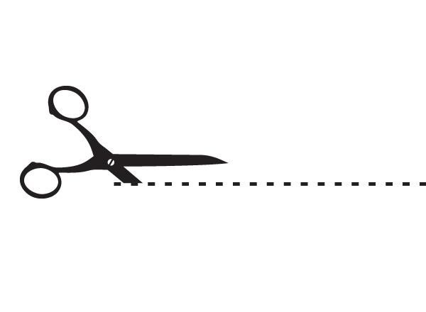 Clip Art Scissors Cutting Dotted Line