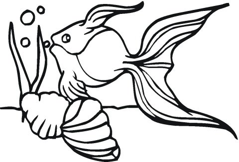 goldfish bowl coloring page printable pages - Goldfish Coloring Pages Printable