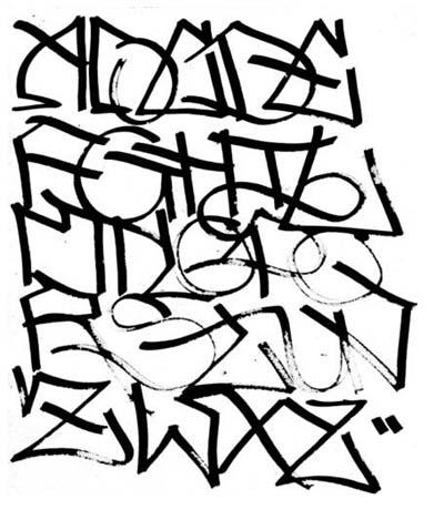 Grafiti Alphabet ClipArt Best