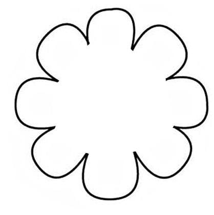 Free Printable Flower Templates - ClipArt BestFlower Pattern Template