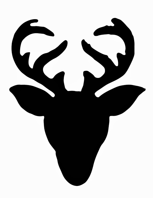 43 stag head silhouette vector . Free cliparts that you can download ...