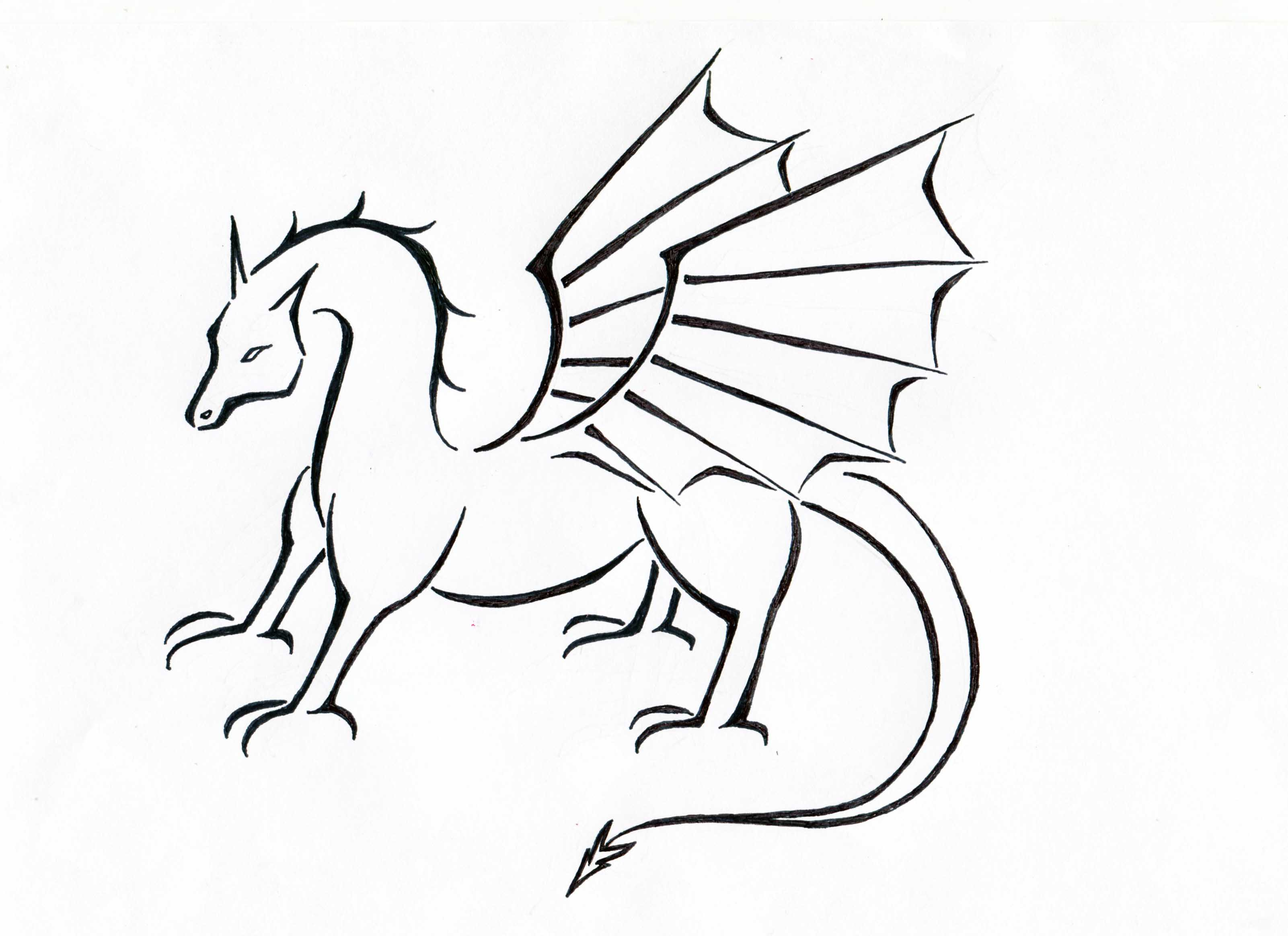Welsh Dragon Outline - ClipArt Best - photo#50