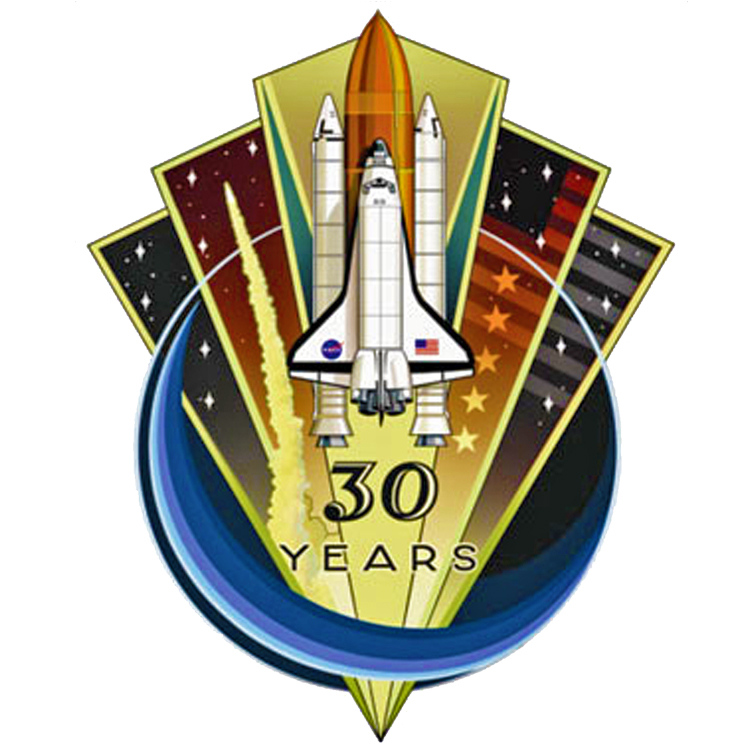 "NASA Space Shuttle 30 Year Anniversary Logo 4.5"" Sticker - Full Color"