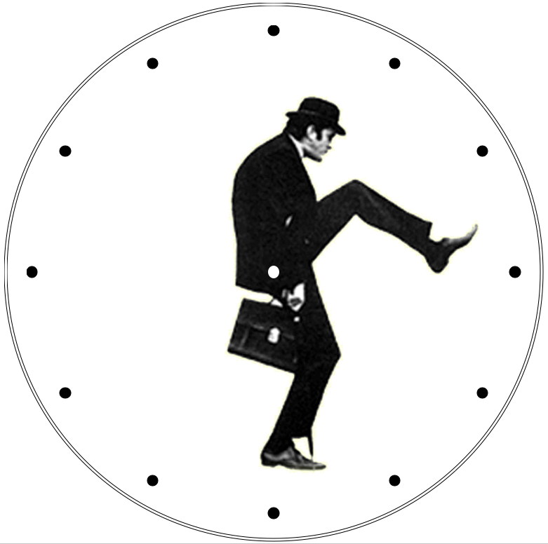 Printable Clock Silly Walk Clipart Best