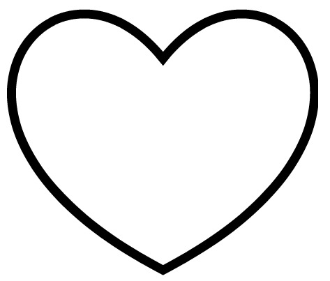 full page heart template - hearts template free clipart best