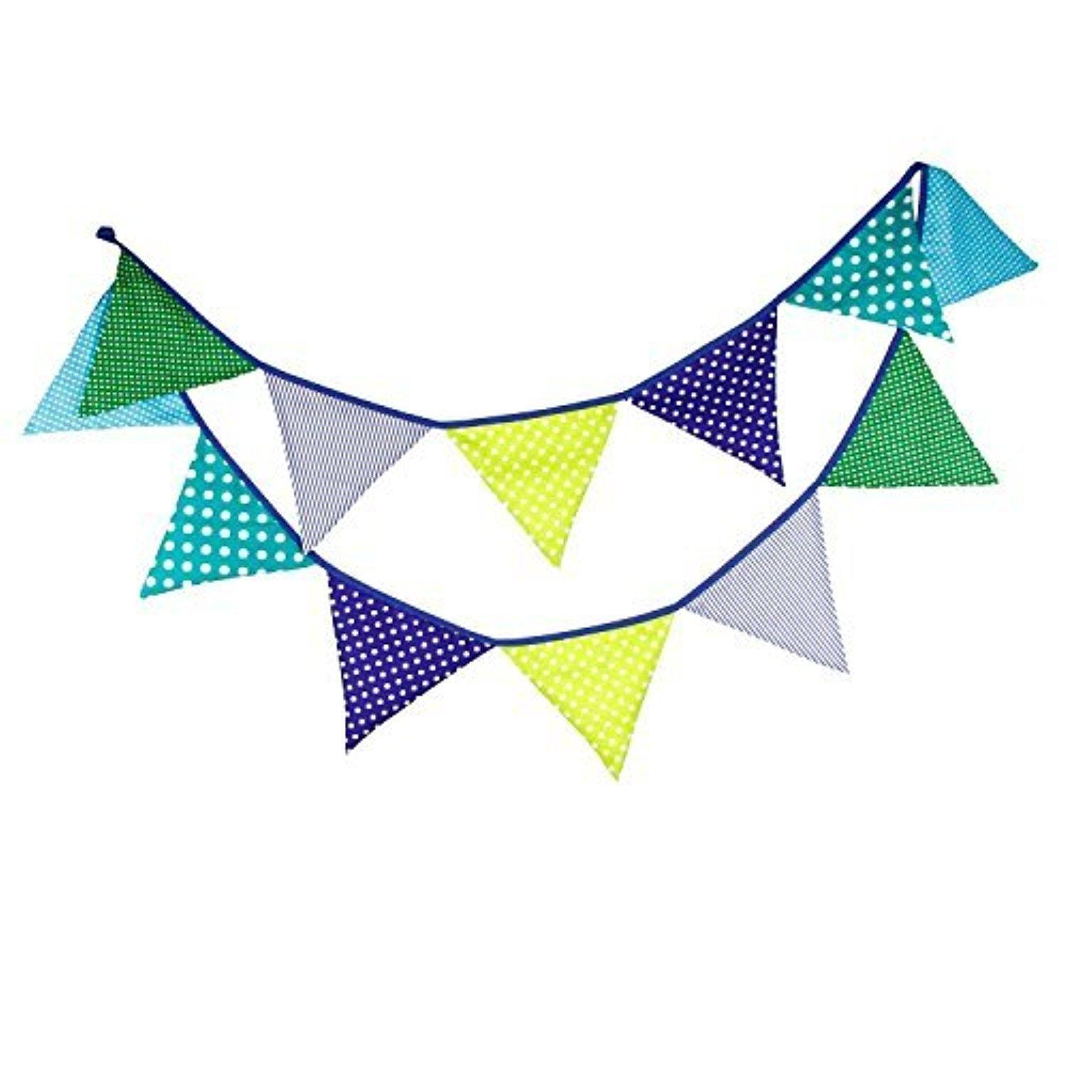 gaixample.org Navy Blue Multi Coloured Fabric Bunting for Party ...