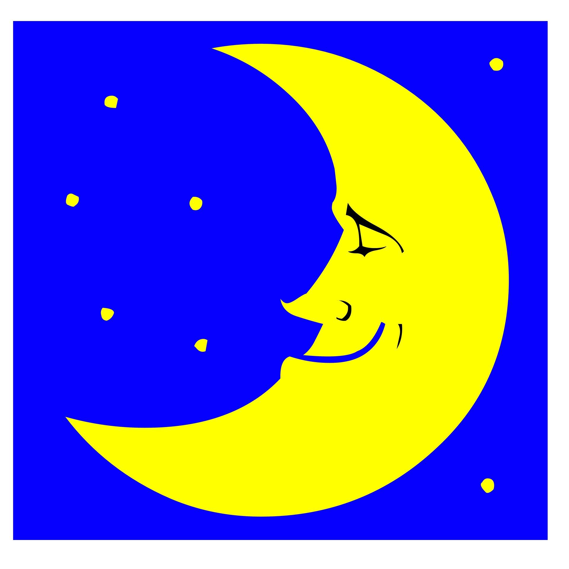 Луна рисованная рисунки