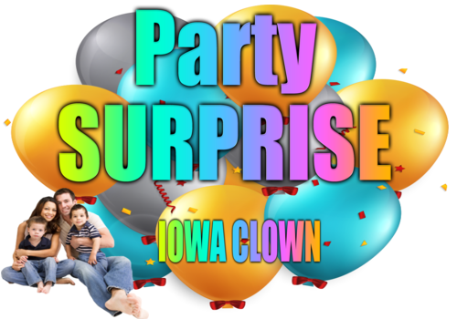 Party Surprise Iowa Clown Happy Birthday Party - ClipArt Best ...
