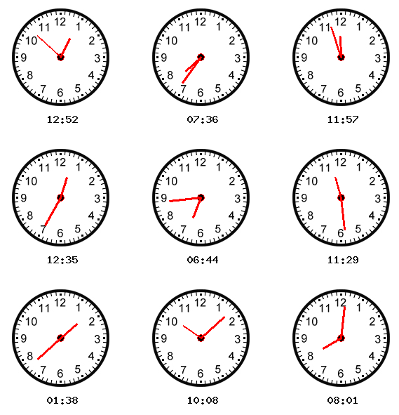 Learning To Tell Time Clock - Laptuoso