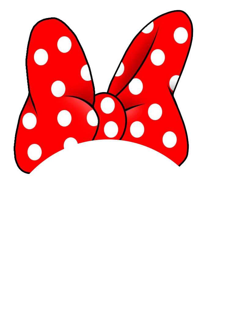 This is an image of Astounding Printable Minnie Mouse Bow