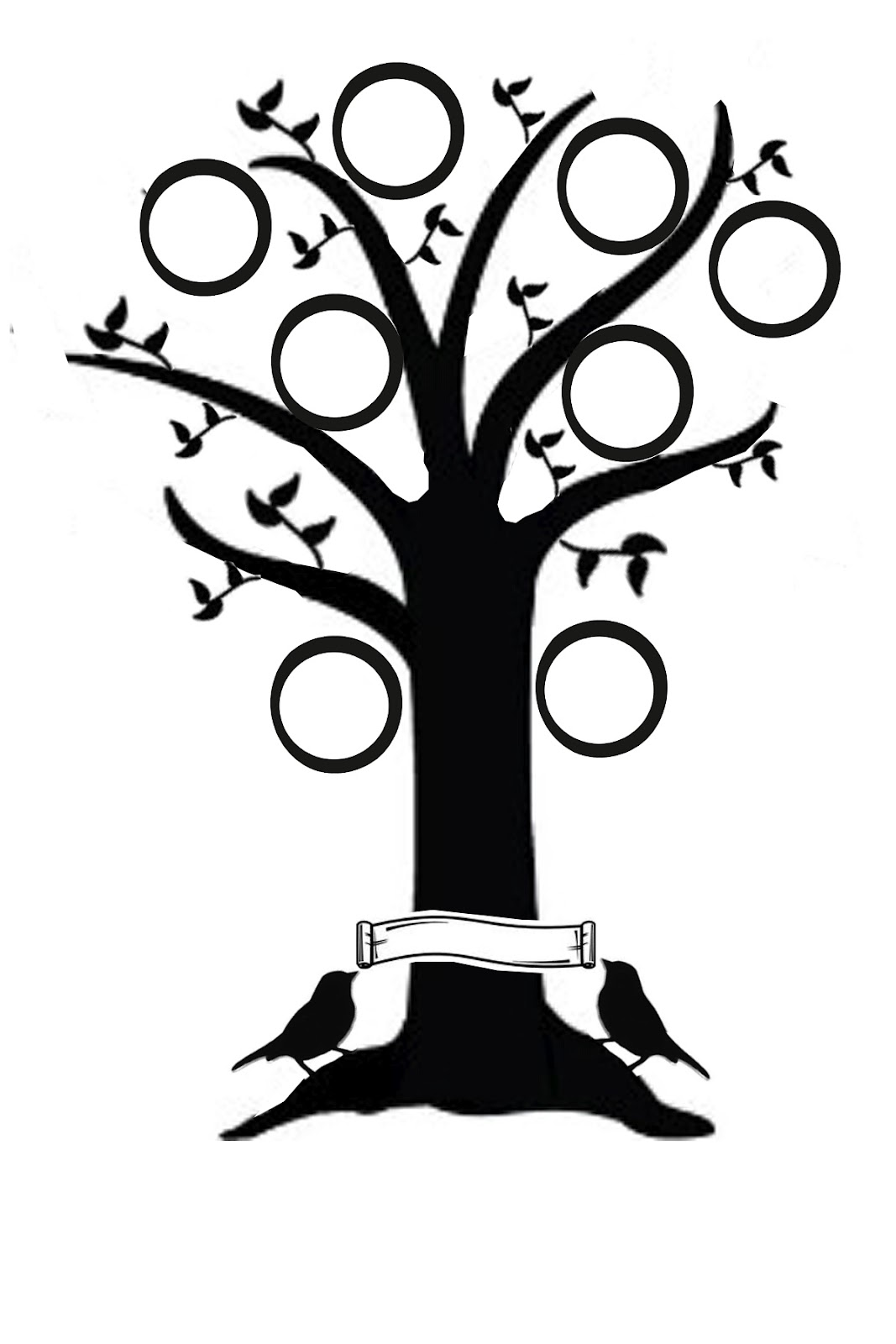Bare Tree Silhouette Clip Art Tattoo