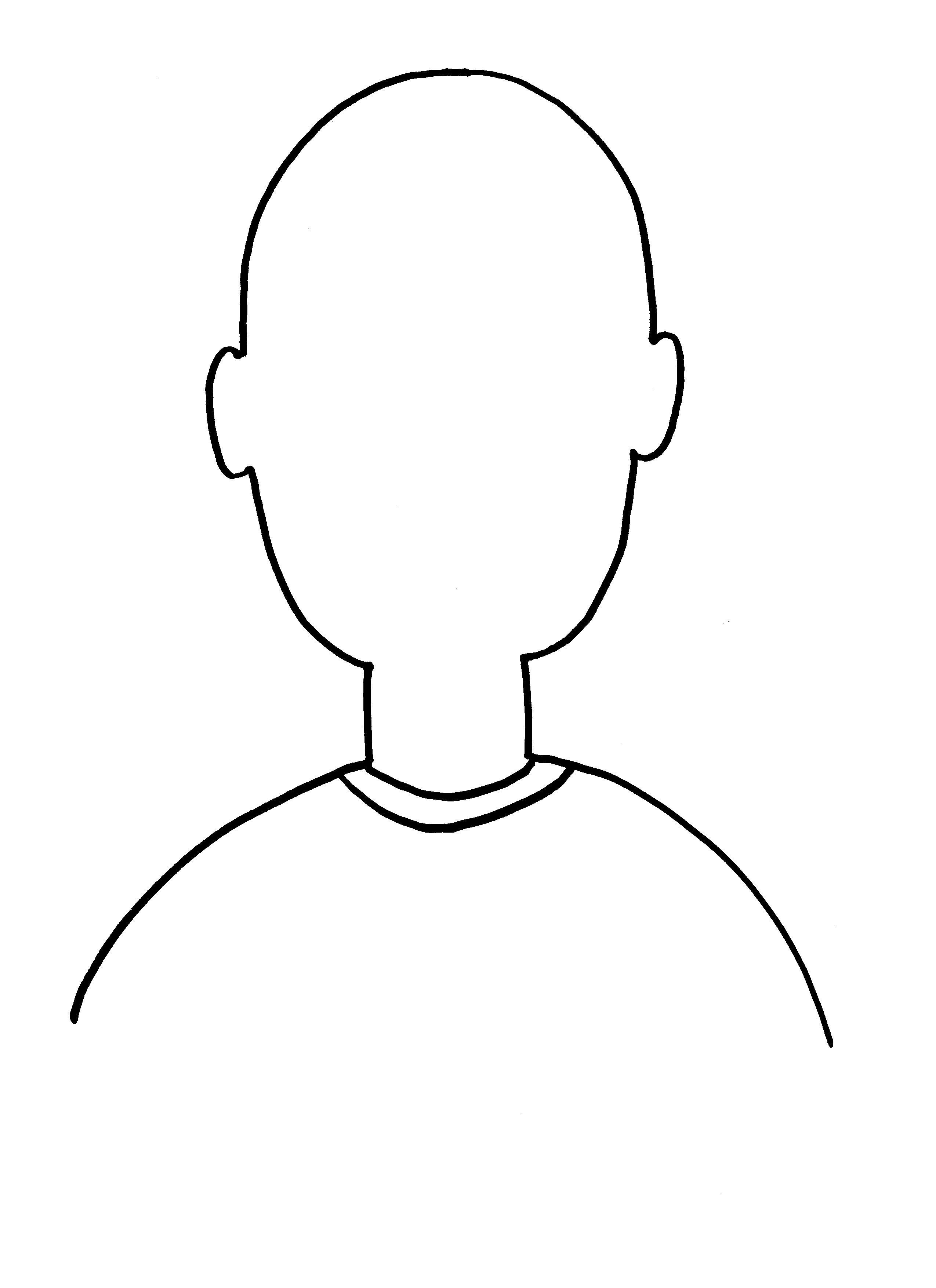 Empty Face Outline - ClipArt Best