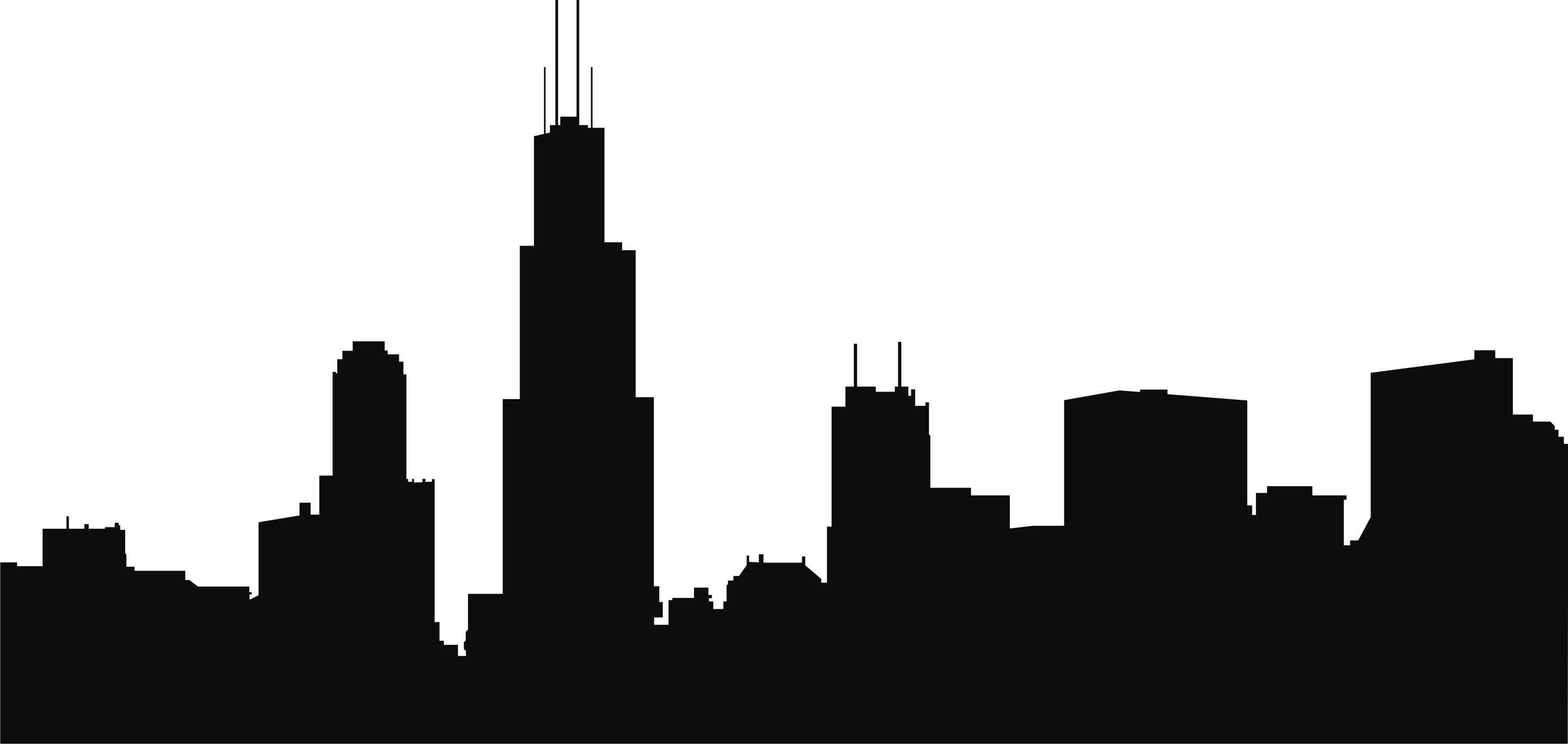 Chicago Skyline Outline - ClipArt Best