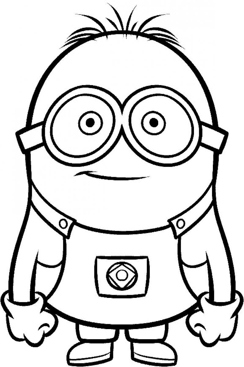 coloring pages purple minions - photo#16
