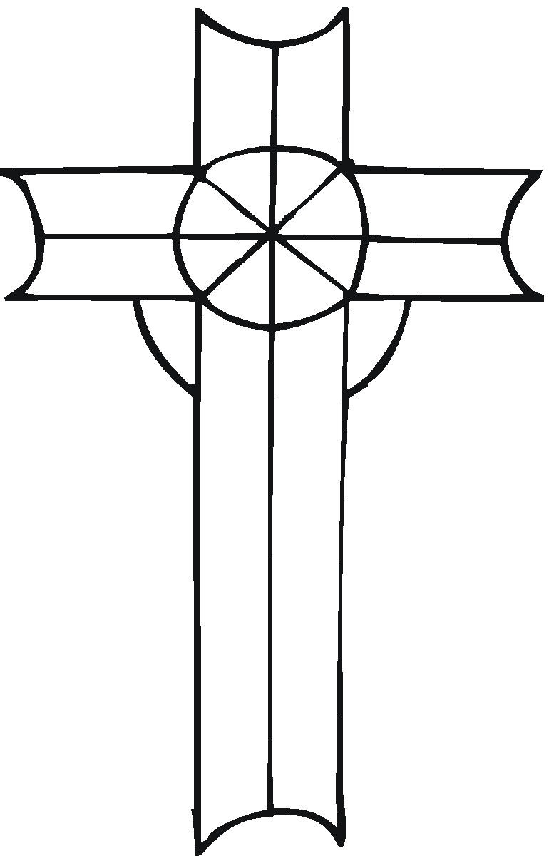 Clip Art Coloring Pages Of The Cross printable cross pictures clipart best coloring