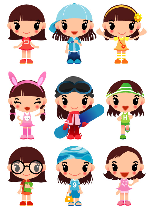 Cartoon Characters For Girls : Girl cartoon character clipart best