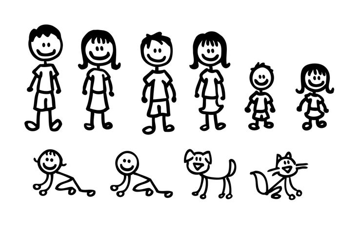 Stick People Family - ClipArt Best