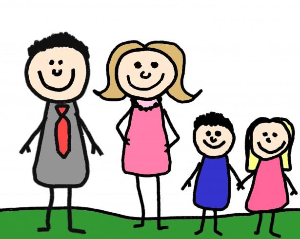 Clip Art Stick Figure Family Clipart