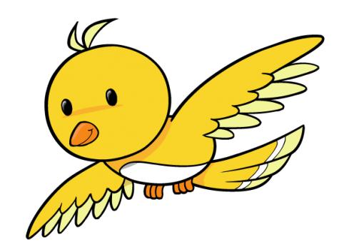 Flying Cartoon Bird - ClipArt Best