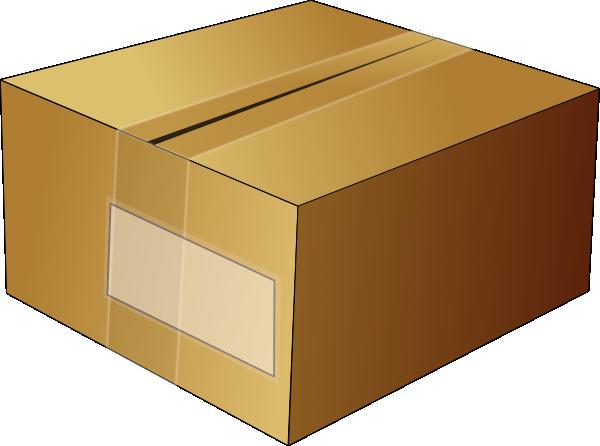 Closed Carton Box Clip Art - vector clip art online ...