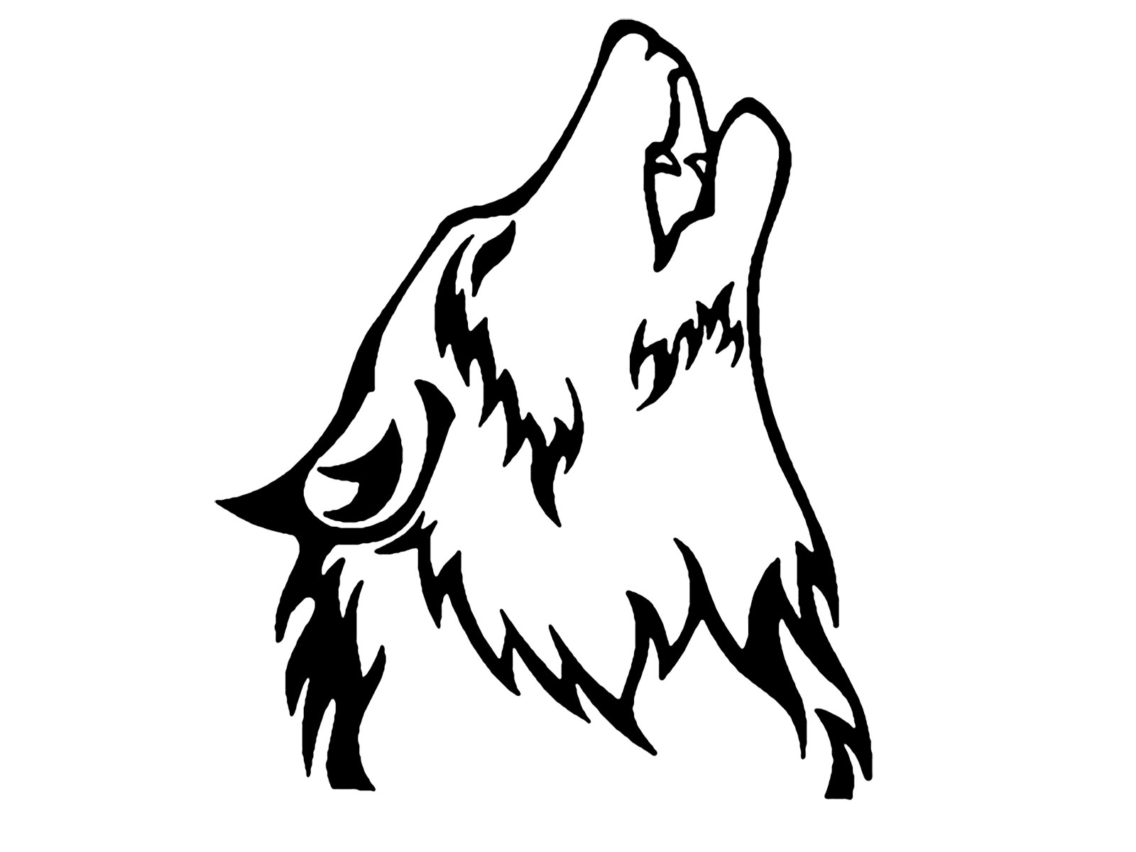 Line Drawing Wolf : Wolves drawings clipart best