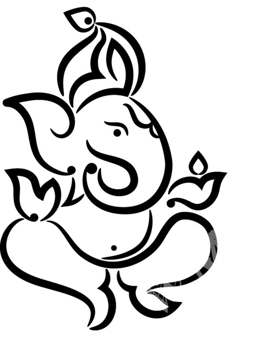 Line Art Ganesh Images : Ganpati line art clipart best