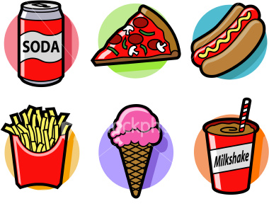 Healthy And Unhealthy Food And Drinks Stock Vector ... |Unhealthy Food Cartoon