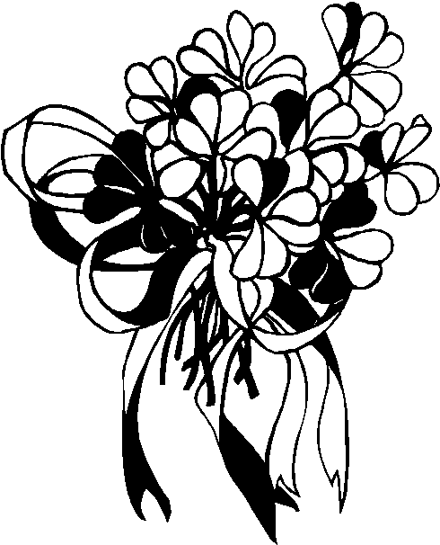Wedding Bouquet Clip Art Black And White