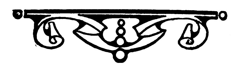 Clip Art Straight Line Scroll : Victorian scroll clip art clipart best