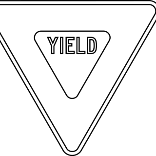 Yield sign coloring pageYield Sign Coloring Page